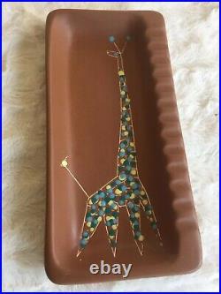 Harris Strong Modernist Art Ceramic Ashtray Pottery Tile Mcm