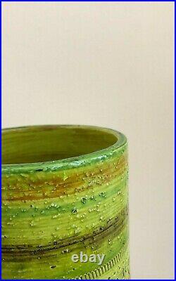 Huge Bitossi Rosenthal Netter Vase Ceramic Chartreuse with Label Stunning