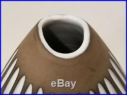 Ingrid Atterberg Upsala-Ekeby Negro Vase 2133 Studio Art Pottery Earthenware MCM