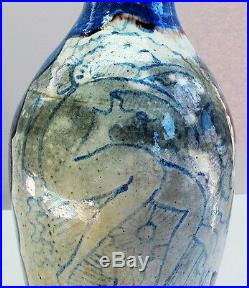 JOSEP LLORENS ARTIGAS & RAOUL DUFY (1877-1953) Painted Art Pottery Vase c. 1930