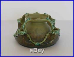 JULIUS DRESSLER Art Nouveau Ceramic FOUR HANDLED VASE Jug Pattern #1104 Austria