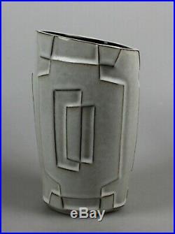 Jaap Ravelli 1950s modernist vase, Dutch Midcentury art pottery