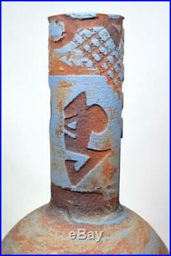 Joan Carrillo Art Pottery Vase c1990 Major Spanish Contemporary Ceramic Artist