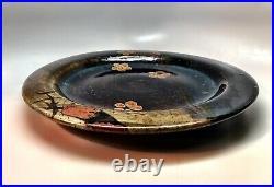 John Glick Stoneware Platter. Script Signed Double Stamped. Studio Art Pottery