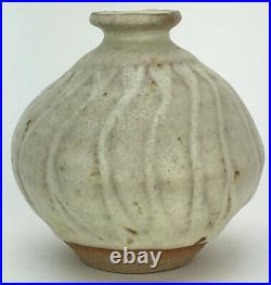 Katherine Pleydell Bouverie British Studio Pottery Cream Glazed Vase Signed Jar