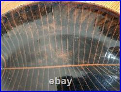 Lagardo TACKETT Kenji Fujita BLACK Fish Plate Ceramic SIGNED 14.75 x 10 mcm