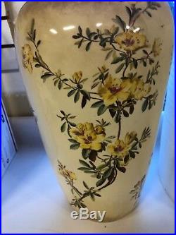 Large 1920's George Jones & Sons Art Pottery Umbrella Stand Faience 18 Tall