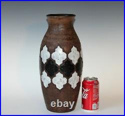 Large Bitossi Pottery Londi Vase Italian Raymor Ceramic Vase Black & White 14
