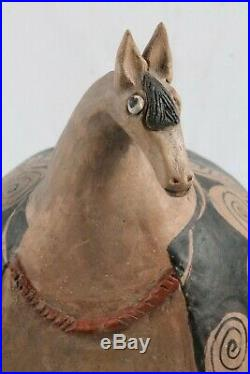 Large Ceramic Sculpture Horse Mexican Fine Art Pottery Collectible Home Decor #7