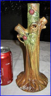 Large Flower Garden Antique Weller Woodcraft Apple Art Tree Pottery Vase Mint