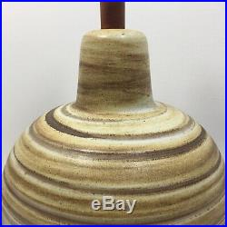 Large Jane & Gordon Martz for Marshall Studios Ceramic Art Pottery Table Lamp