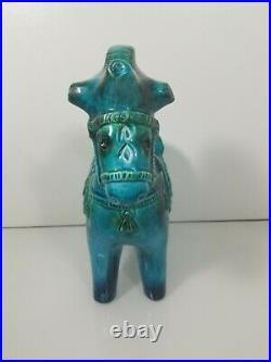 Large Vintage Jema Pottery Horse Figurine Holland 204 1970's Bitossi Style VHTF