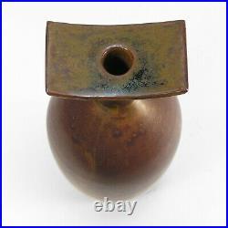 Laura Andreson studio pottery vase 1984 mid century modern California ceramics