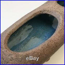 Leonora Morrow SIGNED IKEBANA bowl VASE Ceramic Art Pottery Mid Century Modern