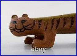 Lisa Larson Gustavsberg large tiger/cat in ceramics. Stamped. 1960/70 s