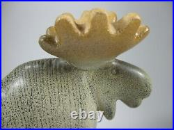 Lisa Larson Sweden Moose Elk Art Pottery Modernist Gustavsberg Ceramic MCM Great