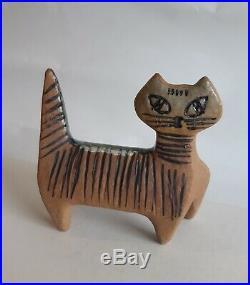 Lisa Larson ceramic cat sculpture Swedish mid-century modern art Gustavsberg