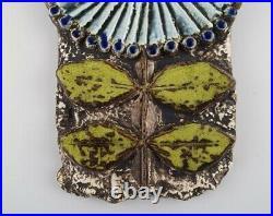 Lisa Larson for Gustavsberg. Glazed ceramic wall plaque in the form of flower