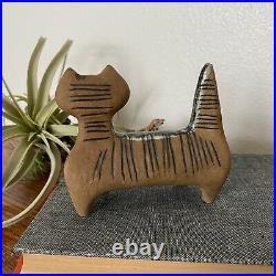 Lisa larson Lilla Zoo Standing Cat Vintage Mid Century Pottery Sculpture