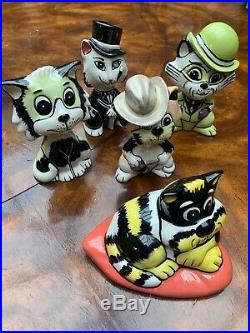 Lorna Bailey Cat Collection Ceramic Art