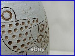 MCM Italian Pottery Vase Rare Bitossi Aldo Londi Berkeley House Shore Birds 12