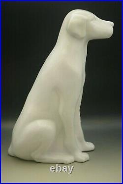 MCM Royal Haeger White Ceramic Large 18 Labrador Dog Sculpture