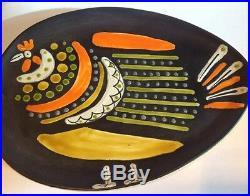 MID Century Modern Raymor Art Pottery Ceramic Plate Dish Alvino Bagni Italy