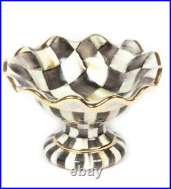 MacKenzie-Childs Courtly Check Ceramic Mini Compote HTF