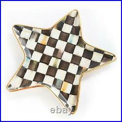 MacKenzie-Childs Courtly Check Star Plate Ceramic NEW #11038-040