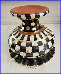 MacKenzie Childs LARGE COURTLY CHECK STOUTLY VASE A Very Hard to Find Treasure