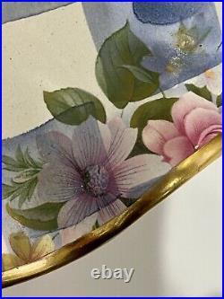 Mackenzie Childs 1996 Gorgeous Pedestal Honeymoon/blue Cake Stand Made In USA