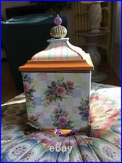 Mackenzie Childs Honeymoon Ceramic Canister/box