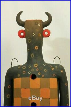 Male Ceramic Sculpture Mexican Fine Art New Pottery Signed Jose Ayala Sotelo