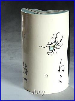 Mariko Swisher, Contemporary Ceramic Artist, sculpted Cat Buddha zushi shrine