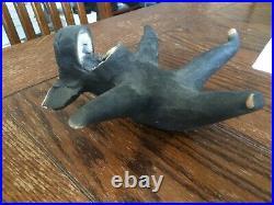 Mary Garber POG Laughing Hippo Ceramic Raku Art Sculpture Signed 1996