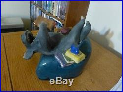 Mary Garber POG Welcome to the Book Club Hippo Raku Art, Signed, 1999