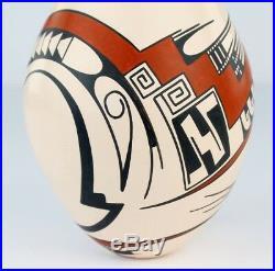 Mata Ortiz Pottery Lydia Quezada Medium White Clay Traditional Ceramic Fine Art