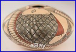 Mata Ortiz Pottery Miriham Gallegos Fish Pot Mexican Ceramic Fine Folk Art