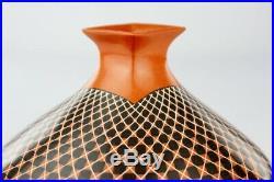 Mata Ortiz Pottery Olga Quezada Cuadricula Squares Mexican Fine Art Ceramics