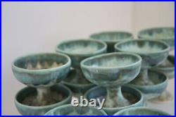 McCarty Jade Mid Century Studio Pottery Mississippi Mud Cup Goblet PRICE PER
