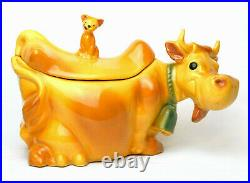 McCoy Art Pottery W10 USA CowithCat Cookie Jar (Vintage Mid-20th Century)