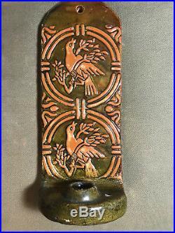 Mercer Moravian Pottery & Tile Works Arts & Crafts 1985 Candlesick Sconce