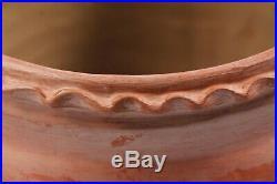 Mexican Ceramic Sculpture/Planter Folk Art Hand Made Collectible Home Decor Red