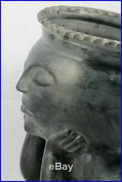 Mexican Ceramic Sculpture/Planter Folk Art Hand Made New Collectible Home Decor