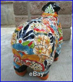 Mexican Folk Art Talavera Pottery Ceramic Animal Sheep Lamb Figure 17