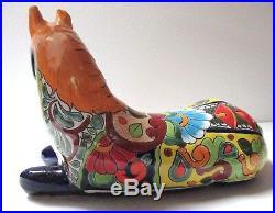 Mexican Folk Art Talavera Pottery Ceramic Horse Figure Western Decor 17