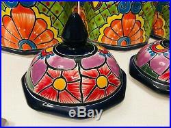 Mexican Talavera Pottery Canister Set Folk Art Ceramic Large Cookie Jar Octagon