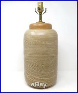 Mid Century Ceramic Studio Art Pottery Textured Lamp Signed Vintage