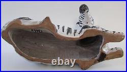 Mid Century Large Italian Ceramic ZEBRA Decorative Figure/Sculpture 15