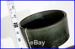 Mid Century Modern Art Pottery Vase Studio Ceramics Japanese Green Tall Japan NM